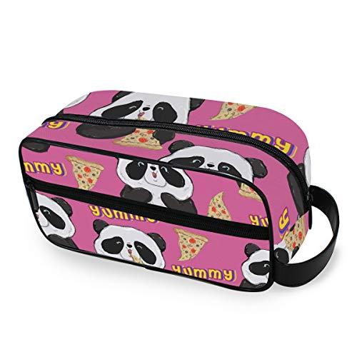 Outils Cosmétique Train Case Maquillage Sac Panda Mangez Pizza De Stockage Mignon Trousse De Toilette Voyage Portable