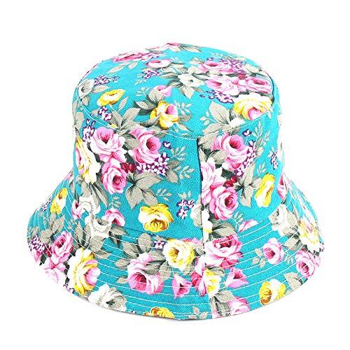 Sombrero Pescador Gorras Hombre Mujer Panam Bucket Hat Hip Hop Bucket Cap Mujeres Hombres Moda Floral Fisherman Hat-E
