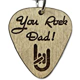 You Rock Dad Guitar Pick Keychain Father's Day Gift | Cute Last-Minute Small Gift for Dad Key-Ring