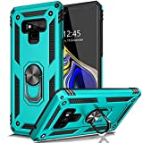 AUPAI for Galaxy Note 9 Case Heavy Duty 15ft Drop Tested Shockproof Cover with Magnetic Ring Kickstand Protective Phone Case for Samsung Galaxy Note 9 Teal