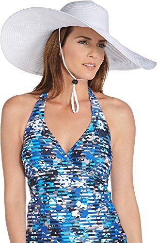 Coolibar Damen Schlapphut UV-Schutz 50, Weiß, OneSize