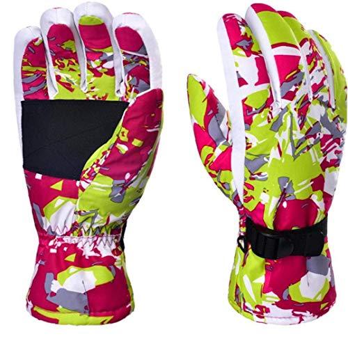 FHKBB Guantes de esquí Snow Warm Waterproof Transpirable Pink para Hombres Mujeres Esquí Snowboard Deporte al Aire Libre (m)
