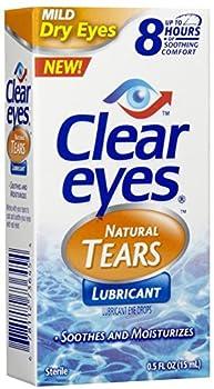 Clear Eyes Mild Dry Eyes Natural Tears Eye Drops-0.5 oz