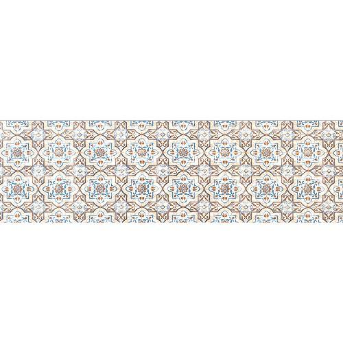 IlGruppone Passatoia Cucina, Tappeto da Ingresso Runner con Stampa Digitale e Fondo Antiscivolo Made in Italy Disponibile in 7 Misure Modello Marsiglia - Marsiglia - 50x200 cm