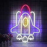 Letreros de neón de la nave espacial, luz de neón, letrero de neón LED para pared, letrero de neón USB para dormitorio, habitación de niños, fiesta de cumpleaños, regalo de Navidad para niño