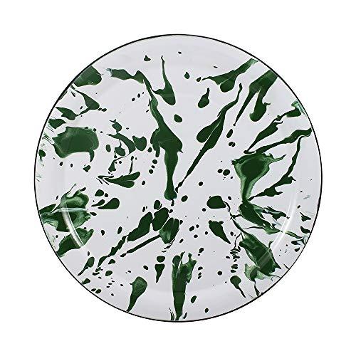 Bandeja/Prato 39 Esmaltado Marmorizado Verde - Ewel