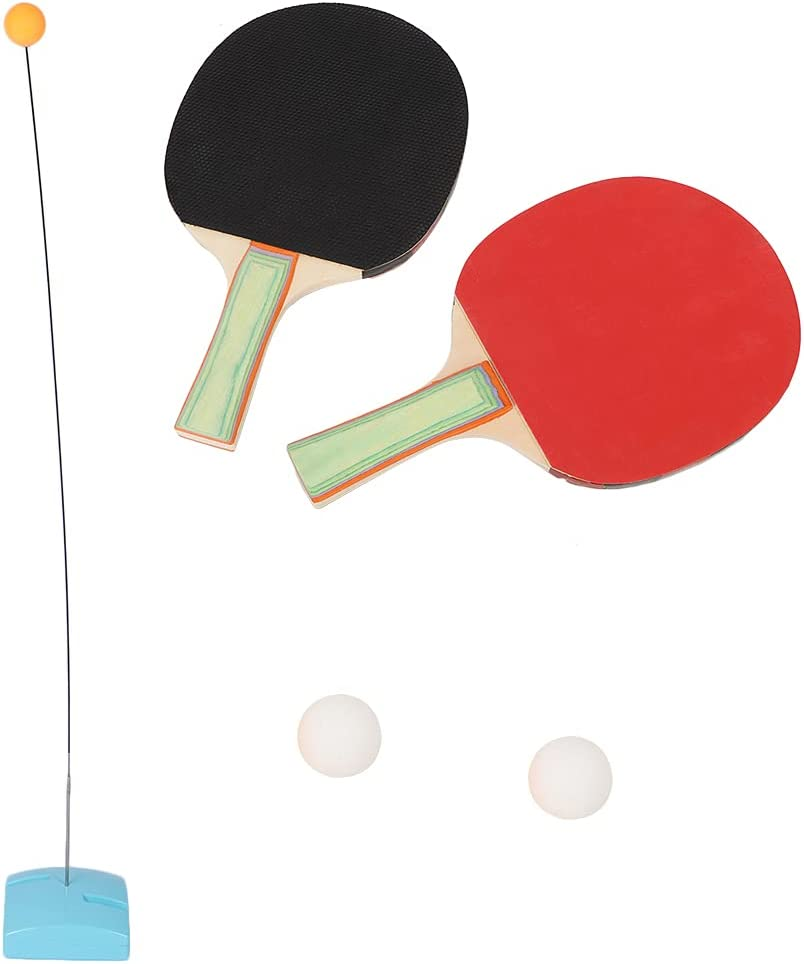 ZJchao Raqueta de Pelota de Tenis de Mesa, Entrenador de Tenis de Mesa de Vaso, de Madera para Entrenamiento de Principiantes