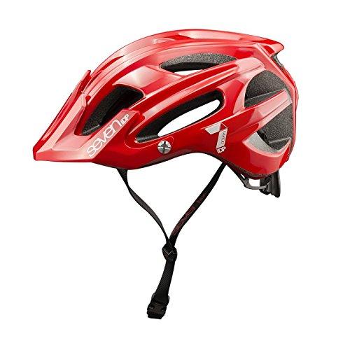 Seven M4, Casco de bicicleta Unisex Adulto, Rojo (Rouge Mat/Blanc), L/XL (58/62 cm)