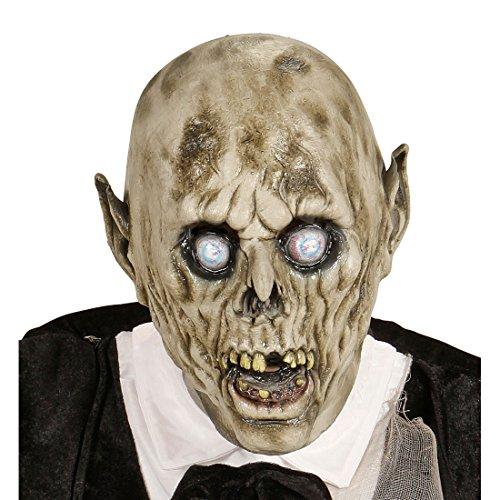 NET TOYS Maschera Zombie da spavento Trucco Morto Vivente in Lattice - Abbigliamento Viso da Sposa cadavere Camuffamento Faccia orco Cattivo Mascheramento Volto terrificante da Mostro