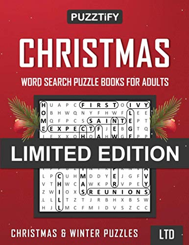 PUZZTiFY Christmas Word Search Puzzle Books for Adults - Limited Edition: Christmas & Winter Wordsearches Puzzles Book for Adults, Seniors and all other Puzzle Fans - Large Print - LTD