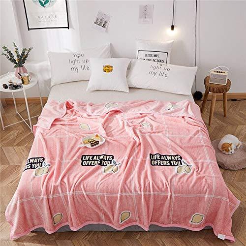 RONGXIE nieuwe aardbeiendeken roze quilts Twin volledige koningin meisjes deken gooien flaneldeken op bed/auto/sofa bloementapijten Home Camping beddengoed 1 Stück 180x200cm Style5