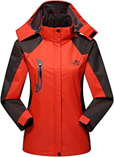 Woman's Outdoor Hooded Jacket Female Spring and Autumn Single-Layer Thin Mountaineering Clothes Windproof Waterproof Coat Removable Hood Size L-4XL