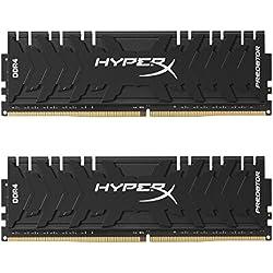HyperX Predator HX430C15PB3K2/16 Moduli di Memoria 3000MHz DDR4 CL15 DIMM XMP 16GB Kit (2x8GB) Nero