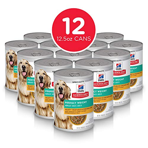 Hill's Science Diet Adult Perfect Weight Hearty Vegetable & Chicken Stew Dog Food