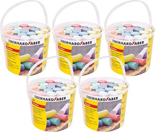 Eberhard Faber Straßenmalkreide, farbig Sortiert (20er Eimer | 5 Eimer)