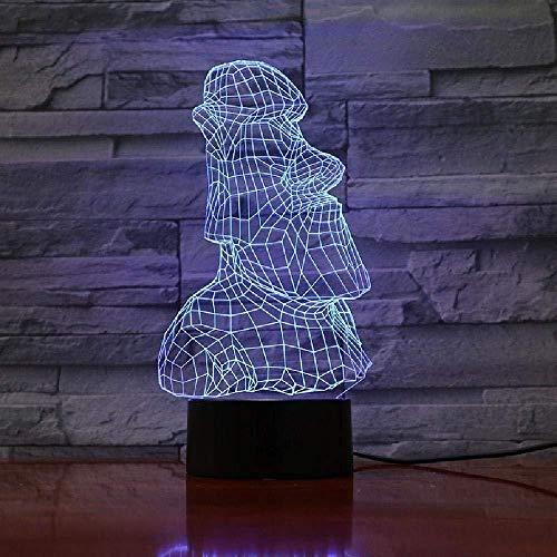 3D Lampe Osterinsel Stein Moai