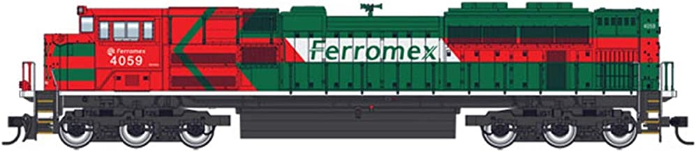 EMD SD70ACE - ESU(R) SOUND & DCC -- FERROMEX 4076 (RED, GREEN, WHITE)