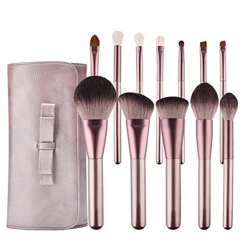 GBY Lot de 15 pinceaux de maquillage à champagne pour fond de teint, poudre, fard à paupières, mélange Kabuki