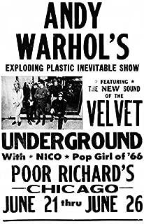 Andy Warhol's, The Velvet Underground Concert Poster, Chicago