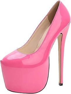 Rosa De Tacón Amazon Zapatos esVestidos Para Sexy ynO0NPvm8w