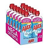 Ajax Detersivo Pavimenti Classico Freschezza e Pulito, Detergente Multiuso Senza Risciacquo, Formula Biodegradabile al 93%, 12x650 ml
