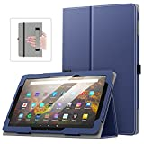 MoKo Case Fits All-New Kindle Fire HD 10 & 10 Plus Tablet (11th Generation, 2021 Release) - Slim Folding Stand Cover with Auto Wake/Sleep, Indigo