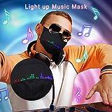 N-T LILIGOD 1/5PC Erwachsene Mundschutz, Halloween LED Leucht, Musik, Mode Atmungsaktive Staubschutz Face Cover Bandana