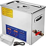 Mophorn Ultrasonic Cleaner 6L Total 380W Commercial Ultrasonic Cleaner Professional Stainless Steel Industrial