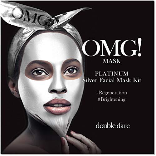 OMG! PLATINUM Collection Silver   Intensive 3stufige Gesichtskur und Beautyanwendung gegen Mitesser, unreine Haut und verstopfte Poren   Mit Pearl Brightening und Diamond Skin Regeneration (1x)