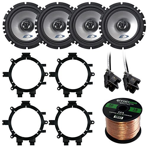 Find Bargain Car Speaker Package Of 4X Alpine SXE-1725S 6.5 Inch 440-Watt 2-Way Coaxial Car Speaker...