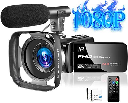 Video Camera Camcorder Full HD 1080P 30FPS 24MP Vlogging Camera for YouTube 16X Digital Zoom product image