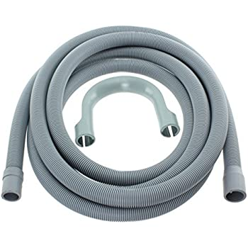 SPARES2GO Drain Outlet Hose for Logik Washing Machine 2.5M, 30mm // 22mm