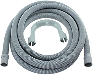 Spares2go Extra Long Water Pipe Outlet Hose For Samsung Washing Machine (4M 19Mm & 22Mm Connection)