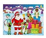 Little Likes Kids - Children's Advent Calendar 2020 - Fun Countdown To Christmas Sticker Activity for Toddler w. African American / Joyful Black Santa