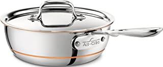 All-Clad 6212 SS Copper Core Stainless Steel Saucier Pan Cookware, 2-Quart, Copper
