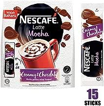Nescafe 3 in 1 MOCHA Coffee Latte - Instant Coffee Packets - Single Serve Flavored Coffee Mix (15 Sticks)