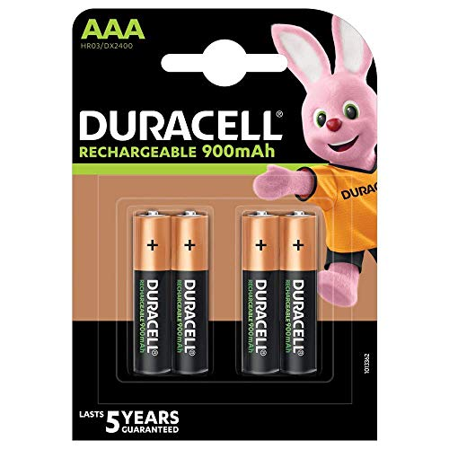 Duracell Stay Charged NiMH Batterie (Mikro (AAA), HR03, 1,2V, 900mAh 4 Stück