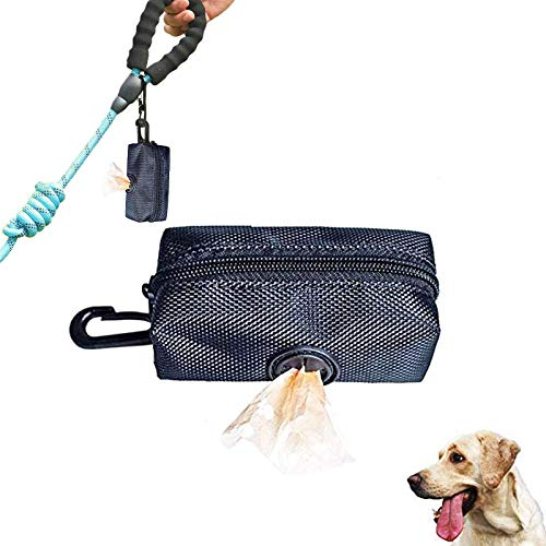 Boyigog Mini Dispensador Caca Perro, Bolsas de excrementos de Perros, Perros Accesorio para Caminar, Correr o Excursionismo para Cualquier Correa y Bolsa Caca(Negro)