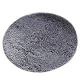 MagiDeal Alfombra Baño de Microfibra Absorbente Redonda Antideslizante Complimentos Decoraación de Casa - Gris, 60cm