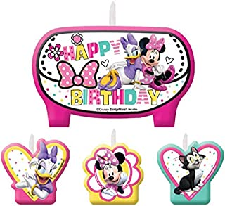 Mini Molded Cake Candles | Disney Minnie Mouse Collection | Party Accessory