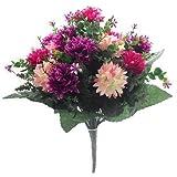 Kunstblumen-Strauß, Chrysanthemen, 41cm, gemischt (Pink und Weinfarben)