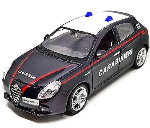 Burago Auto Die Cast Alfa Romeo Giulietta CARABINIERI Scala 1:24