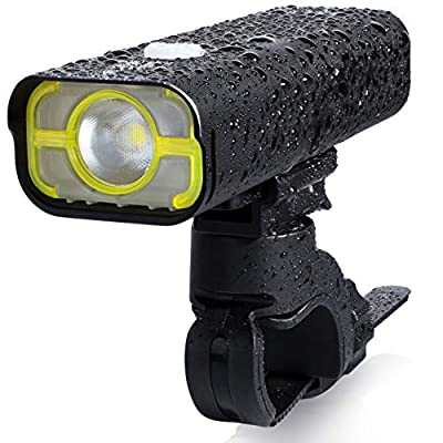 BrightRoad 2500mAh Front and Back Bike Light Set, USB Rechargeable & IPX6 Waterproof, True 800 Lumens Bicycle Mountain and Road Cycling Headlight and Taillight Combo, Safety Led Bike Rear Light