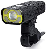 BrightRoad 800 Lumens Front and Back Bike Lights, USB Rechargeable & IPX6 Waterproof, Ultra Bright Bicycle Mountain Headlight and Taillight Combo, Led Bike Rear Light, Road Cycling Flashlight Set