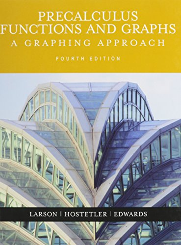 Download Precalculus Functions + Graphs:a Graphing Approach 4th Ed + Smarthinking 0618541519