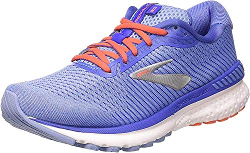 Brooks Womens Adrenaline GTS 20 Running Shoe, Bel Air Blue/Coral/Silver, 41 EU