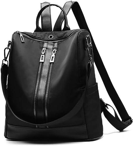 C&S CS Frauen-SchwarzRucksack-Oxford-Art-Einfache Mode-Reise-Einzelne Schulter-Taschen-Studenten-beil iges Schultaschen-Leichtgewichtler