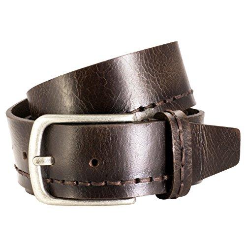 Lindenmann Mens leather belt/Mens Premium full grain leather belt The Art of Belt Unisex, dark brown, Größe/Size:100, Farbe/Color:marron