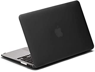 For Macbook Air 13.3 inch Model ( A1369 / A1466 ) - LENTION Sand Series Matte Hard Case - Black