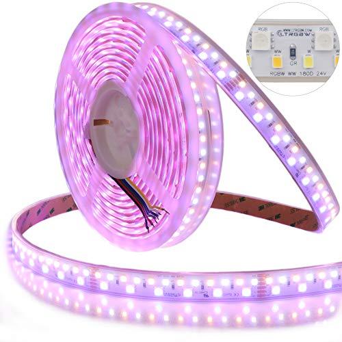 LTRGBW Doppelreihe SMD 5050 2835 RGB-WW-W LED-Band DC24V 135W 900LEDs RGB-Dual White RGB-CCT RGBW LED Stripe 5M Wasserfest IP67